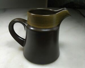 Noritake Primastone Genuine Stoneware Creamer Dark Brown, Excellent Condition!