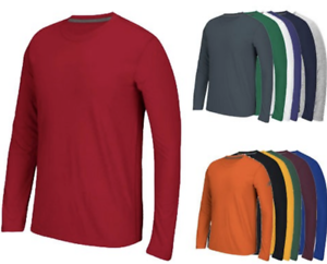 Adidas-Men-039-s-Climalite-Ultimate-Long-Sleeve-T-Shirt-4881-Choose-Color-amp-Size