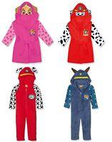 Kids 3D Paw Patrol Fleece Costume Onesie Sleepsuit All in One Or Hooded Robe
