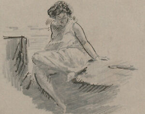 Harold Hope Read (1881-1959) - Graphite Drawing, Study of Hilda