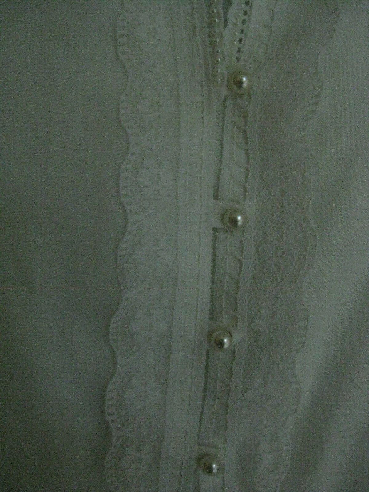 Gunne Sax White Dress Girls Size 12 Pre-Owned - image 4