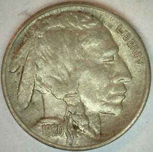 1920-S-Buffalo-Indian-Head-Nickel-5-cent-US-United-States-5c-Nickel-AU-K30