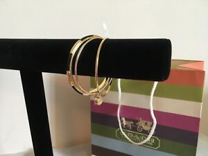 NWT-Coach-Gold-Stacked-Bangles-MSRP-115