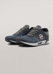 Sneakers-Uomo-Colmar-Travis-Evolution-Tweed-Scarpe-Pelle-Scamosciata-Blu-Nuove