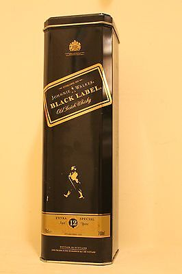Johnnie Walker Black Label Tin Bottle Case Box - No Alcohol