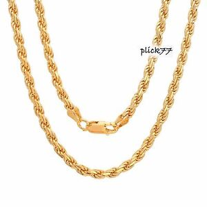 Diamond-Cut-Rope-Chain-22k-Gold-Plated-over-Sterling-Silver-Lobster-Claw-Clasp