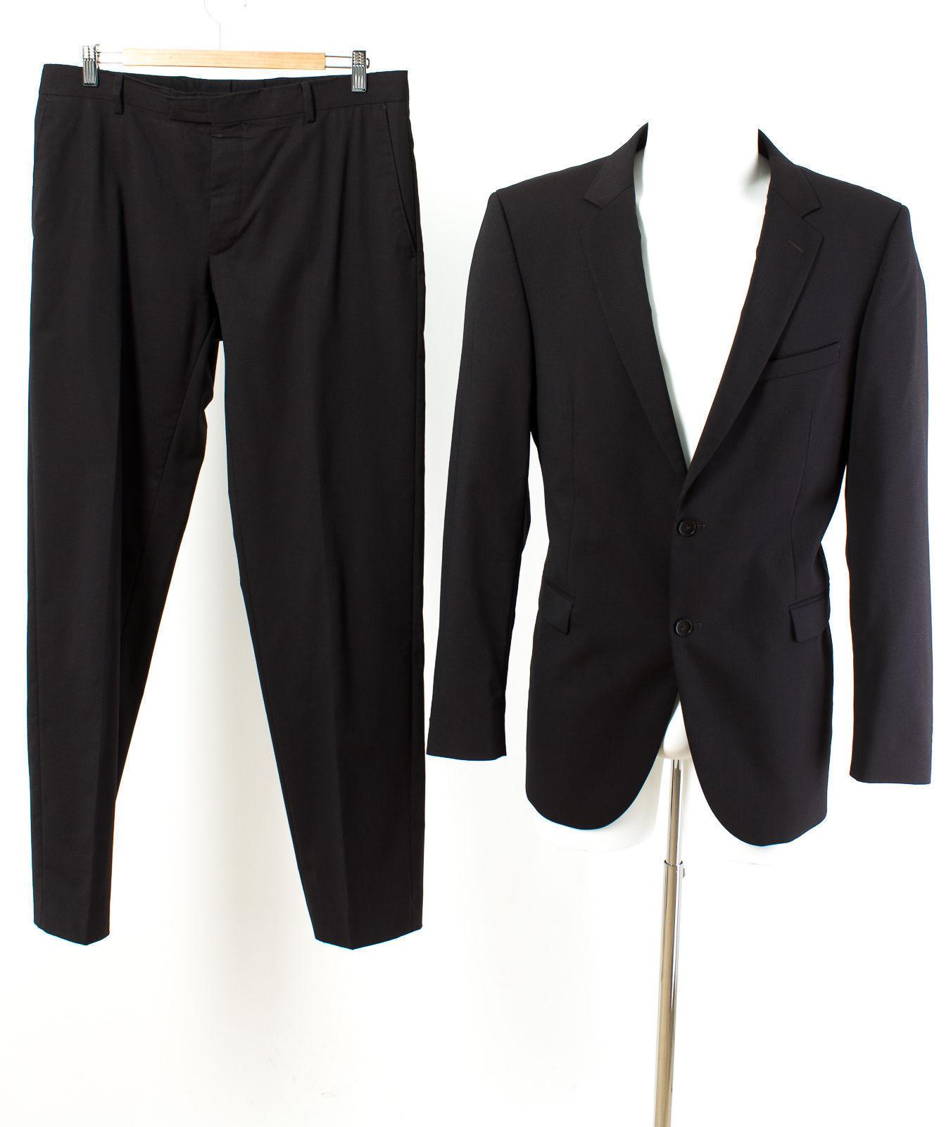 Strellson Anzug Gr. 98 (M Schlank) Wolle Sakko Hose Geschäft Suit