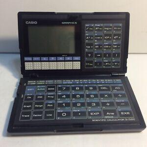 Casio fx-7500G Folding Graphing Scientific Calculator For Parts Or Repair