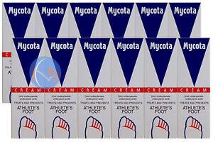 12-x-Mycota-Athletes-Foot-Cream-25g-Treatment-for-Athletes-Foot-Antifungal-Cre