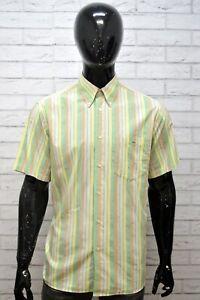 LACOSTE-Uomo-Camicia-Manica-Corta-Camicetta-Taglia-XL-Maglia-Shirt-Man-Hemd