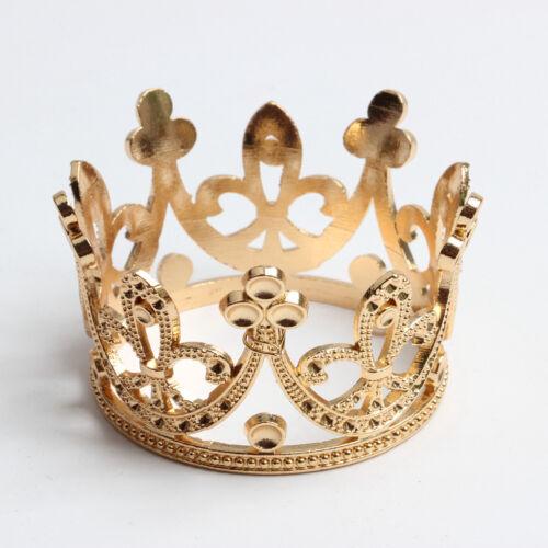 Packung mit 4 Vintage Barock Mini Blume Mädchen Diamantes Krone Tiara