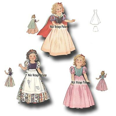 "Patsy Vintage Doll Clothes Pattern ~ 13/"" 14/"" Shirley Temple Composition"