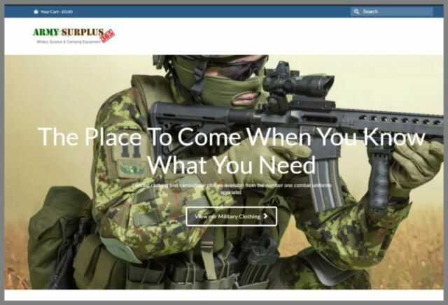 MILITARY GEAR Website Earn $44.14 A SALE|FREE Domain|FREE Hosting|FREE Traffic