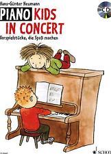 Klavier Noten : Piano Kids in Concert mit CD leichte Mittelstufe HEUMANN ED8440
