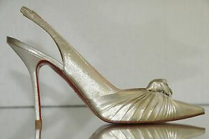 69165f79c323 Image is loading New-Christian-Louboutin -Francaise-Lurex-Lame-Platine-Silver-