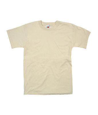 New Mens Plain Fruit Of The Loom Valueweight T Shirt Black Tee FOTL