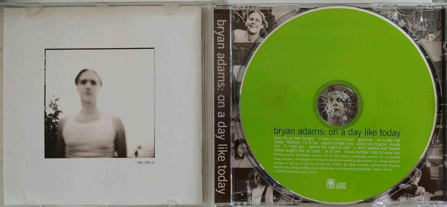 Bryan Adams On A Day Like Today Guest Pass Green