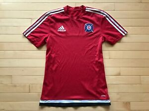 release date 947e2 20e50 Details about Adidas Chicago Fire EUC Jersey Shirt Blue MLS Soccer Men's  Size Small .