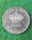 1646# PORTUGAL - 50 REIS KING LUIS I 1886 SILVER KM# 506 HIGH GRADE RDL3009