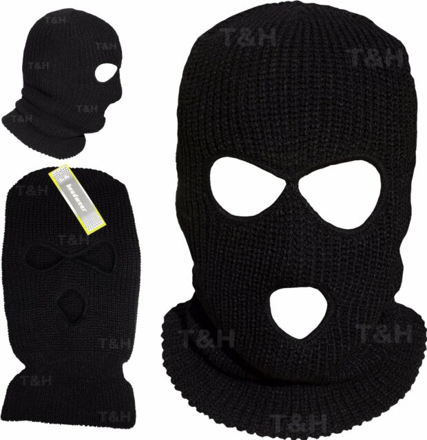 26e44d4cc221a BALACLAVA Knitted Ski Mask Hat Neck Warmer SAS Style ARMY 3 Hole Full Face  Bali