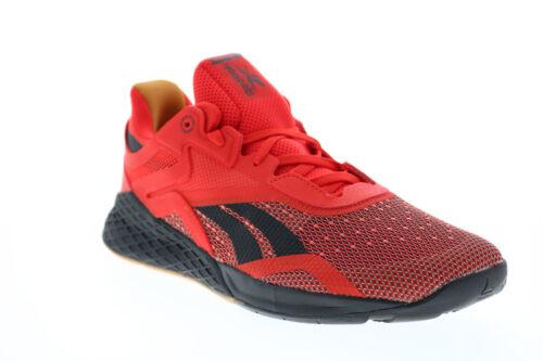 Reebok Reebok Nano X FV6667 Mens Red Canvas Athletic Cross Training Shoes