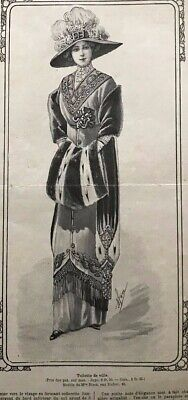 Edwardian MODE ILLUSTREE  Dec 1st /& Dec 8 1912 sewing PATTERN sheet
