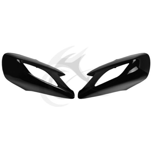 Left/&Right Rear View Mirror Cover For Honda ST1300 ABS Plastic Black 2002-2011