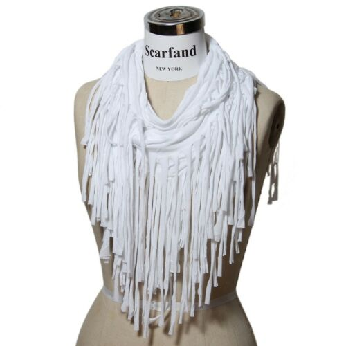 Scarfand/'s Punk Style Long Fringed Jersey Scarf