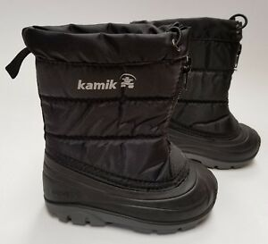 Kamik-Icefollies-Waterproof-Winter-Snow-Boots-Black-Toddlers-Size-5-10
