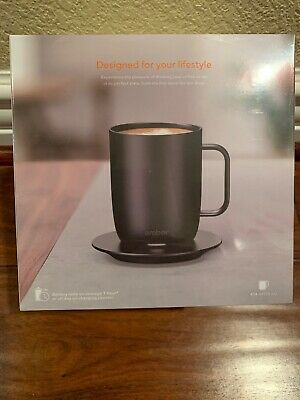 Ember Temperature Control Smart Mug 14 oz BLACK Brand New Sealed SKU 11104735