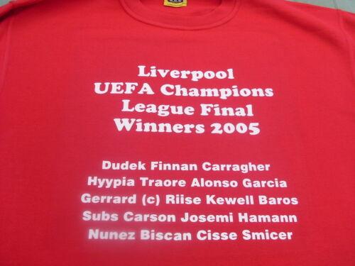 Liverpool Famous European Teams T-Shirts /& Sweat Shirts 4XL /& 5XL Christmas Gift