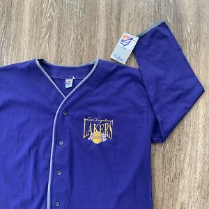 Details about LA Lakers Vintage Baseball Jersey New With Tags Size XL Los Angels RIP KOBE