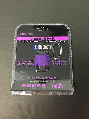 Fine Life Audio Products Wireless Bluetooth Speaker W// Carabiner New Purple