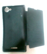 for sony xperia L S36H C2104 hard flip cover plain folio new 1+1 free
