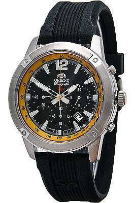 ORIENT FTW01007B0,Men Chronograph,New,Silicone,50m WR,WITH TAG AND GIFT BOX