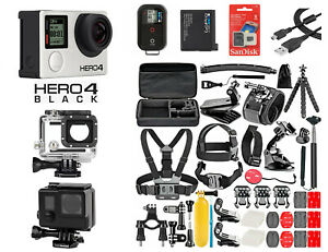GoPro-HERO-4-Black-Edition-Camera-50PCS-Accessory-Remote-Blackout-8G-SD