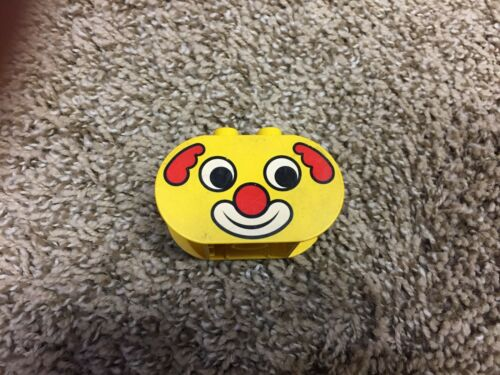 Lego Duplo face body 2x4x2 rounded ends printed face eye cat dog animals head