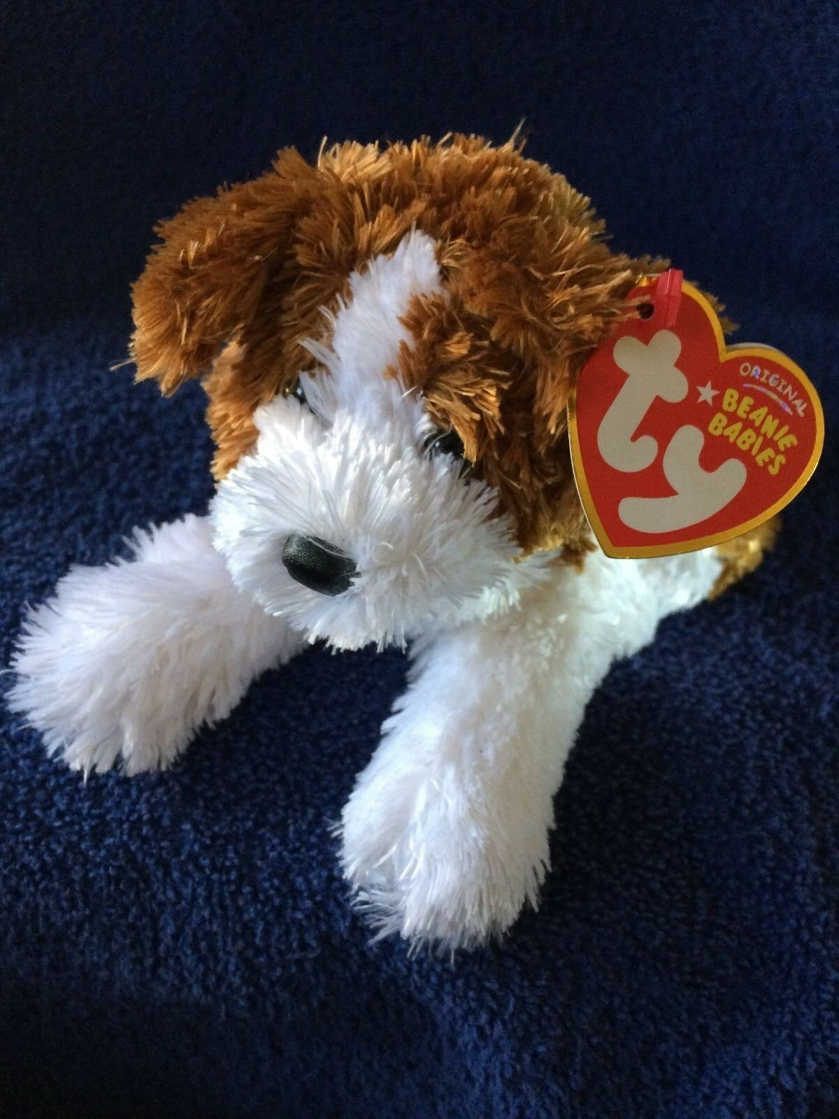 Ty Ty Ty Beanie Baby Babies Rowdy the Dog MWNMT VERY VERY Soft and Cute FREE Shipping 679bda