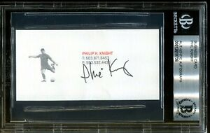 Phil-Knight-Nike-Founder-Signed-Business-Card-Autograph-Auto-BAS-Beckett-COA-36