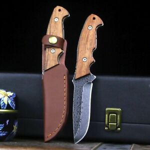 German Forged Jungle Tactics Outdoor Straight Camping Survival Hunting Knife