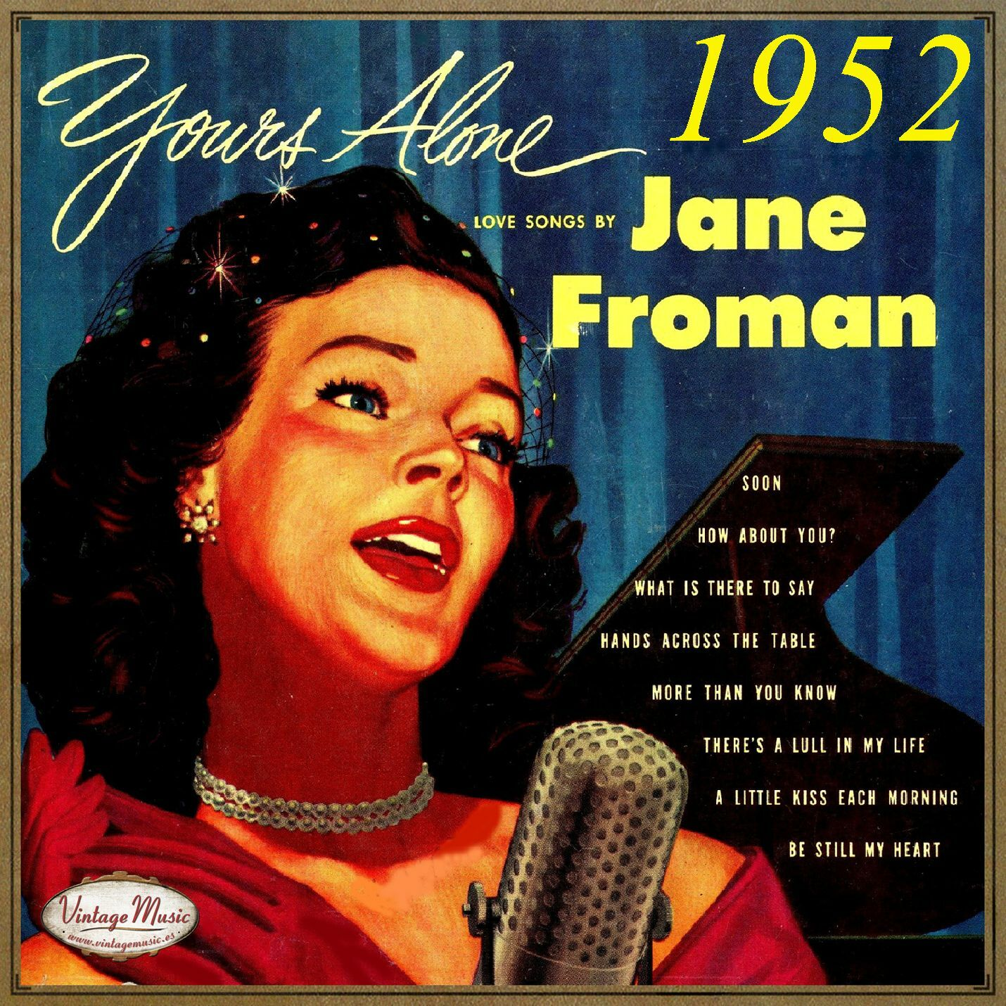 Jane Froman - JANE FROMAN CD Vintage Vocal Jazz Yours Alone 1952 , Love Songs How About You - CD