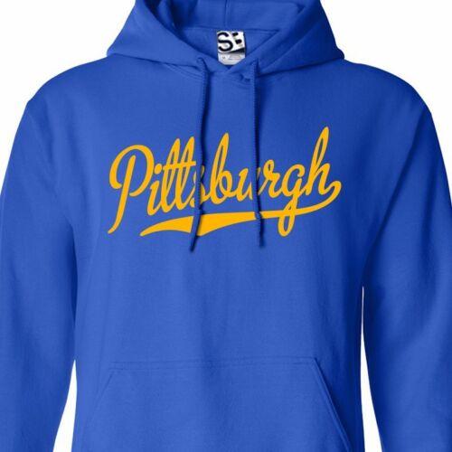 Pittsburgh Script Sweat à capuche Sweat à capuche balle sport équipe-Toutes Tailles /& Couleurs