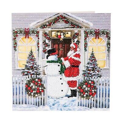 Craft Buddy Crystal Art DIY Christmas card CAROL SINGERS diamond painting NEW