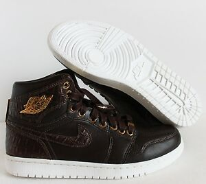 0a9a539db3cab1 NIKE AIR JORDAN 1 PINNACLE BAROQUE BROWN-METALLIC GOLD-WHITE SZ 14 ...