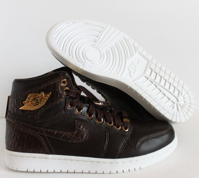 100% authentic 8bb16 256c6 NIKE AIR JORDAN 1 PINNACLE BAROQUE BROWN-METALLIC GOLD-WHITE SZ 8  705075