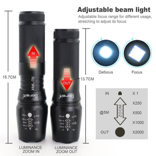 10000lm Authentique Shadowhawk X800 lampe de poch tactique LED Torch Hiking NEW