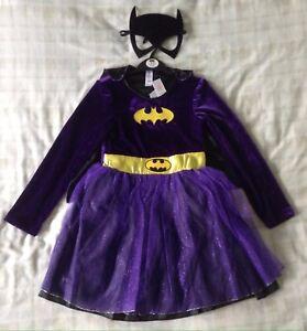 GIRLS BATGIRL SUPERHERO BATMAN TV FILM BLACK KIDS FANCY DRESS COSTUME OUTFIT