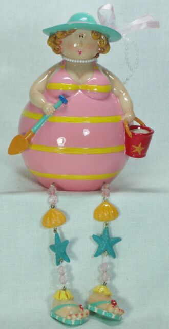 Fun Money Box of a Fashionable Lady at the Beach 16cm FUNMB2 - A ***LAST ONE***