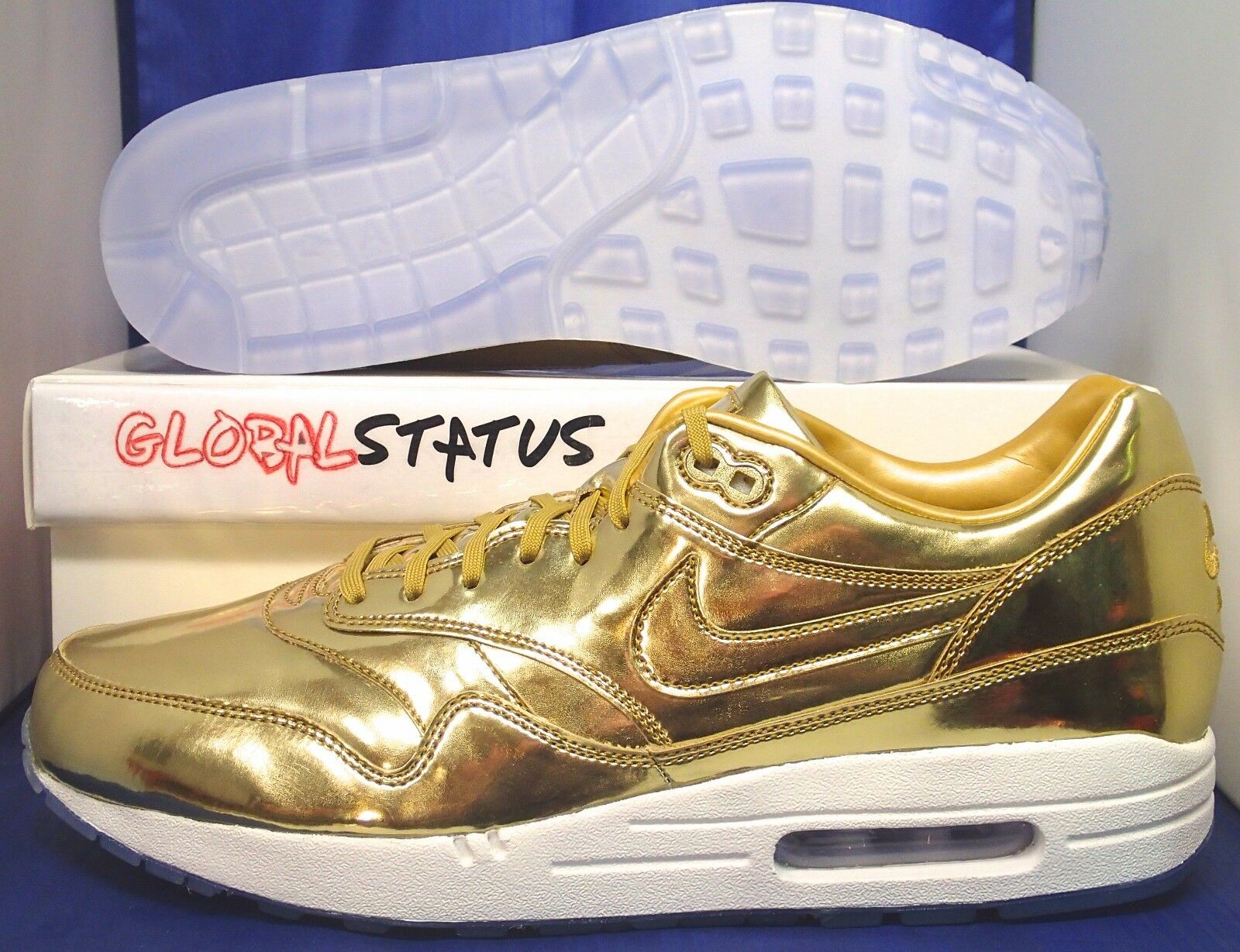 MENS NIKE ID AIR MAX 1 PRM LIQUID GOLD DOMINICAN REPUBLIC SHOES 829357 991 Price reduction The latest discount shoes for men and women