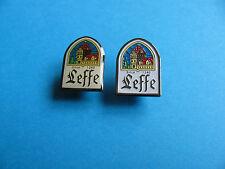 2, LEFFE Belgium Beer pin badges, Lager, Pilsner. Unused.